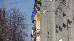 Акции сторонников единства Украины в Днепропетровске 9 марта