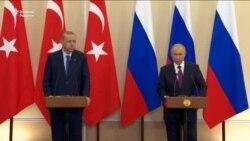 Путин ва Эрдўғон Идлибда демилитаризация ҳудуди барпо этиш ҳақида келишиб олди