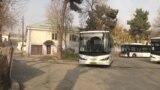 Автобус ба ҷои мусофирбарҳои хурд дар Душанбе