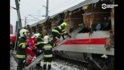 Один человек погиб, более 20 ранены при столкновении поездов в Австрии (видео)