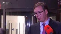 Vučić, Zaev, Mustafa: Uspešan sastanak u Briselu