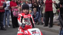 Ukraine's Youngest Motorcyclist