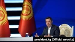 Қырғызстан президенті сайлауының бас үміткері саналатын Садыр Жапаров.
