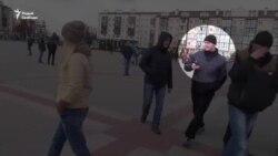 Кадры затрыманьня Максіма Філіповіча ў Пінску