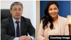 Бишкек шаарына дайындалган вице-мэрлер Алмаз Бакетаев жана Айжан Чыныбаева.