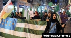 Шествие северокавказцев в Стамбуле