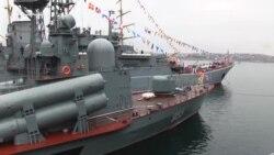 В Севастополе проводили экскурсии на боевых кораблях (видео)