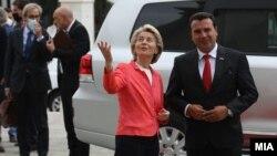 Урсула фон дер Лайен се срещна с премиера на Северна Македония Зоран Заев на 28 септември