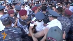 Armenian Police Detain Five Protesters