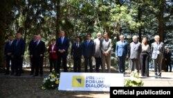 Maqedoni e Veriut: kryeministrat e vendeve të Ballkanit Perëndimor, në Forumin e Prespës për Dialog (2 korik 2021)