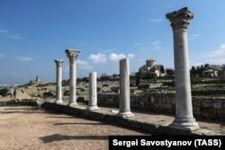 Ostaci antičke bazilike u grčkoj koloniji Hersones Taurijski, koja je osnovana pre otprilike 2.500 godina.
