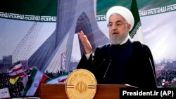 Președintele iranian Hassan Rohani, Teheran, 10 februarie 2021.