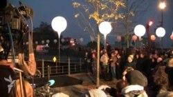 Светящийся призрак Берлинской стены