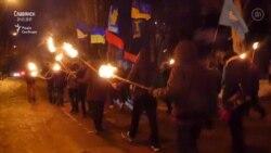 У Слов'янську під час факельної ходи прогримів вибух (відео)