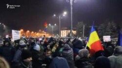 Marile proteste antiguvernamentale de la București - 1 februarie seara