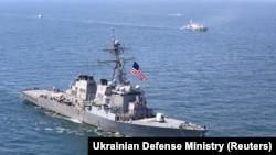 USS Porter în timpul exercițiilor militare Sea Breeze 2020 din Marea Neagră, iulie 2020