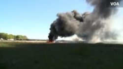 Ukrainian Military Helicopter Explodes After Attack