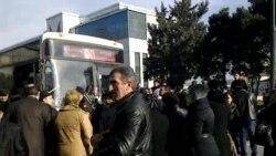 Tbilisi prospektində etiraz aksiyası