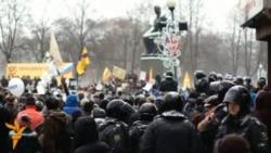 Sankt-Peterburgda hökümete garşy protest geçirildi