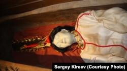 Укокская принцесса в Национальном музее им. Анохина, Горно-Алтайск, фрагмент экспозиции