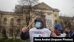 Protest de miercuri, 14 aprilie, organiza de sindicatele din sistemul public.