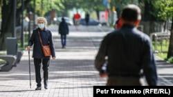 На улицах Алматы, 8 сентября 2020 года.