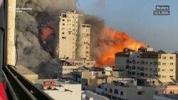 Rušenje nebodera u Gazi