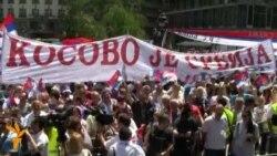 Beograd: Protest protiv sporazuma Srbije i Kosova