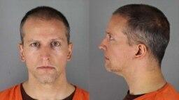 Дерек Шовин на снимка от затвора след ареста си в края на май 2020 г.