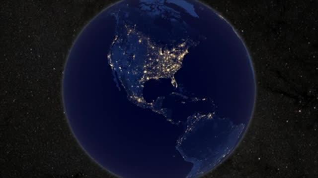 Pogled na Zemlju noću