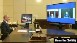 Путин на онлайн-встрече с Меликовым и Васильевым