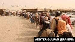 مهاجران افغان در مرز پاکستا
