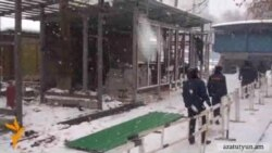 Ոստիկանները Մաշտոցի այգում արգելափակոցներ են տեղադրել
