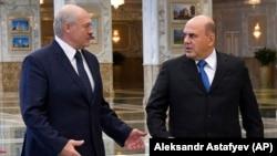 Александр Лукашенко и премьер-министр РФ Михаил Мишустин