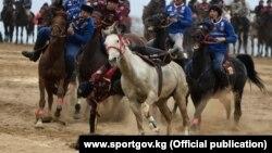 Фрагмент игры в кок-бору, Кыргызстан. Март 2021 г.