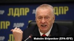 Ռուսաստանի լիբերալ-դեմոկրատական կուսակցության առաջնորդ, Պետական դումայի պատգամավոր Վլադիմիր Ժիինովսկին, արխիվ, Մոսկվա