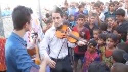 حفل موسيقي تطوعي للنازحين في اربيل