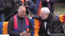 Opposition leader's hunger strike at Yerevan's Liberty Square