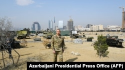 Azərbaycan Prezidenti İlham Əliyev Bakıda açılmış Hərbi Qənimətlər Parkında, 2 aprel, 2021-ci il