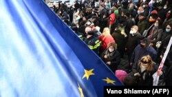Tbilisidə Nika Meliaya azadlıq tələb olunur, 23 fevral, 2021-ci il
