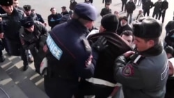 Scuffles And Arrests At Yerevan Protest