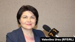 Natalia Gavriliță în studiou Europei Libere,februarie 2021.