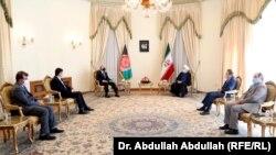 دیدار عبدالله عبدالله، رئیس شورای عالی مصالحه ملی افغانستان با حسن روحانی، رئیس جمهور ایران