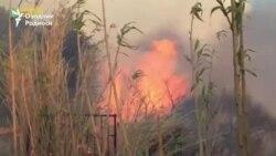 На юге Франции жителей эвакуируют из-за пожаров