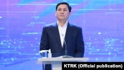 """Early on in the campaign, Abdil Segizbaev (above) said he had information about Sadyr Japarov that included the identity of who had """"ordered"""" Japarov to return to Kyrgyzstan."""