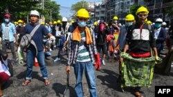 معترضان در میانمار