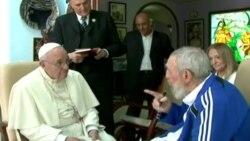 Папа Римский Франциск встретился с Фиделем Кастро в Гаване