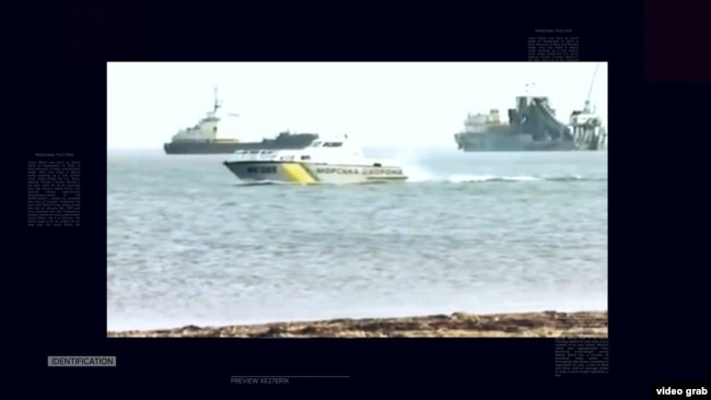 Керченский пролив. Корабли во время российско-украинского конфликта вокруг острова Тузла. 2003 год