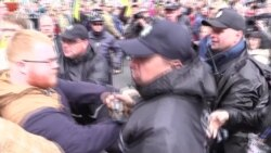 Clashes Mark Victory Day In Kyiv