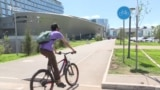 Велосипедші бар, жол жоқ